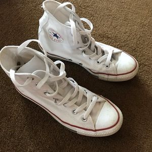 White Converse Hi Top